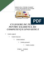 Culegere Teste Competenta Lingvistica