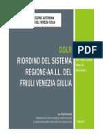 La riforma di riordino del sistema regione FVG