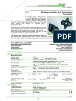 Especificaciones Datasheet OEM Transmisor Pequeño Compacto de Humedad EE04