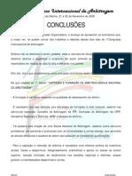 I Congresso Internaciona Arbitragem (Conclusões)