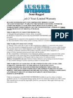 Warranty Program Options - Semi Rugged