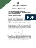 Examen Autoevaluación (Vibraciones)