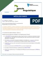 Capsule No11 Neologismes