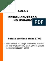 Aula 02 - Design centrado no usuário