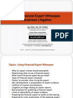 Using Financial Expert Witnesses in Business Litigation