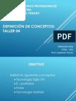 Presentación Conceptos Taller 4