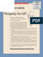 Does innovation lead to prosperity for all?