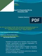 01 - Clase N°1 Preparación PSU De Matemática 2009 - Conjuntos Númericos