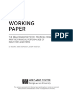 The Relationship Between Political Connections and the Financial Performance of Industries & Firms