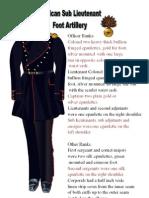 Mexican Sub Lieutenant 1846 Foot Artillery