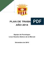 Plan de Trabajo 2014