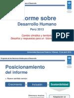 Informe de Desarrollo Humano - Peru 2013