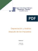 Depreciación y Análisis después de impuestos