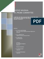Justice Mudgal Ipl Report