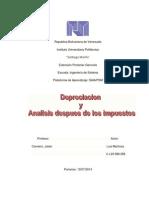 Depreciacion y Analisis Despues de Los Impuestos