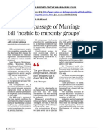 Honourable Mwaura Newspaper Comments Marriage Bill 2013