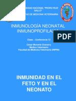 Clase 12 Inmunología Neonatal - Inmunoprofilaxia