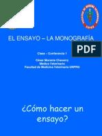 Clase-conferencia 1 El Ensayo, La Monografía