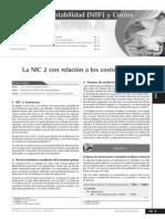 NIC 2 Con Relacion a Los Costos Estandares