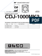 Pioneer Cdj-1000mk3 Sm