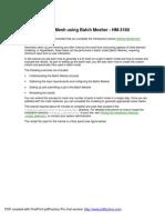 Printing _Creating a 2-D Mesh using Batch Mesher - HM-3160