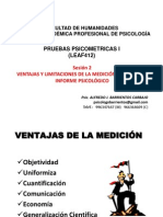 Sesion 2 Ventajas - Informe Psicológico