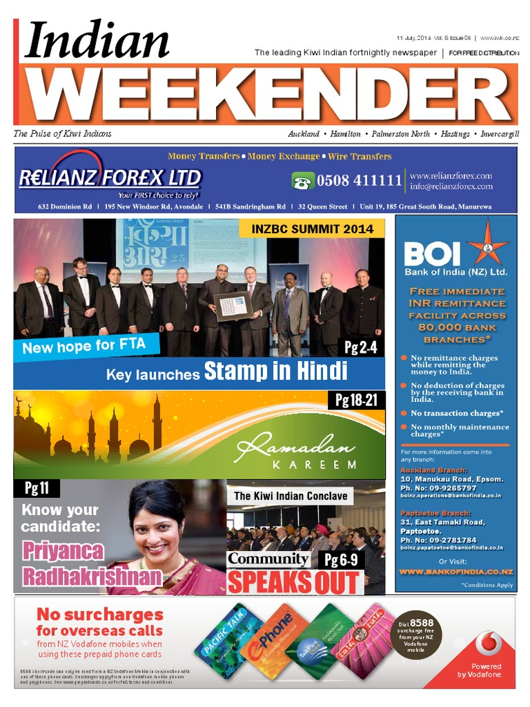 0f324b7b1cc7 Indian Weekender Vol 6 Issue 5 | New Zealand | Immigration