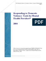 Responding to DV Tools for MH Providers