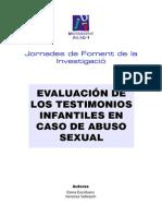 Abuso Sexual Veracidad Del Testimonio