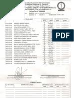 Acta de examen 2009