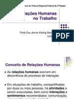 Relaçoes Humanas No Trabalho