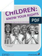 Children Know Your Rights - Based on the Uganda Person With Disabilities Act of 2006