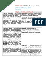 Avaliação Da Aprendizagem LUCKESI Quadro Comparativo (1)