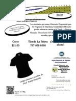 Flyer Internado Ocupacional Camisa Mercadeo y Educacion Comercial