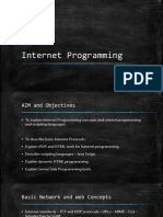 CS734 Internet Programming Unit 1
