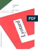 Lyotard Jean Fransois - Por Que Filosofar [PDF]