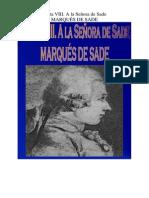 Marques de Sade - Carta 08. a La Señora de Sade