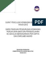 Surat Pekeliling Kewangan Bilangan 8 Tahun 2012