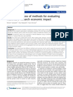 Systematic Review of Methods for Evaluating Healthcare Research Economic Impact