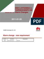 186878974 ENodeB Material for Alarm Changes V100R003C00SPC100 vs V100R003C00