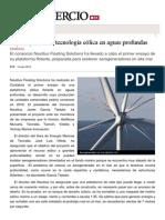España Prueba Su Tecnología Eólica en Aguas Profundas