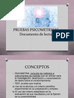 1 PRUEBAS PSICOMETRICAS Clase 1 Documento de Lectura