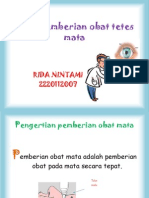 Pemberian Obat Mata