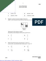 Percubaan UPSR Pahang 2013 Matematik Kertas 1
