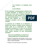 Fundamentos de La Historia y La Geografía Como Materias Formativas