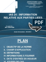 Ias 24 - Information Relative Aux Parties Liees