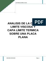 Analisis de La Capa Limite Viscosa y Capa Límite