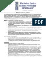 Dolor Por Cancer, Fisiopato