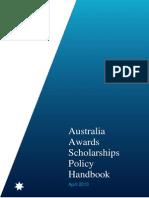 Australia Awards Scholarships Policy Handbook April 2013