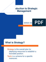 Chapter 1 - Introduction to Strategic Management